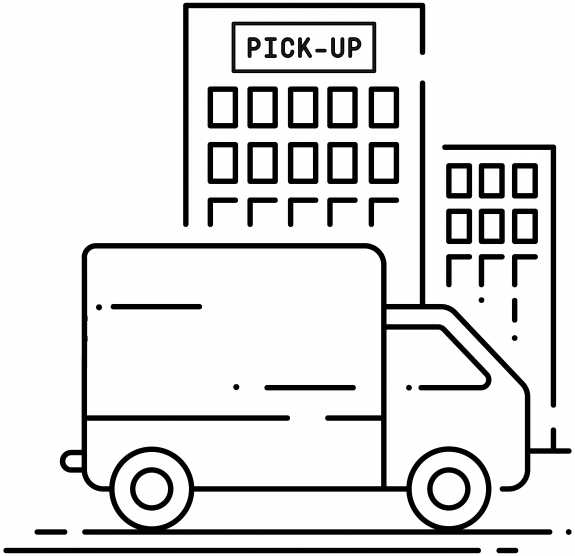 Illustration of a truck in front of the Pickup